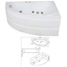 Ванна акриловая асимметричная правая 1500*900 Bas Алегра