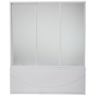 Шторка на прямоугольную ванну стекло 170 см Bas Ахин