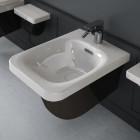 Биде подвесное Hidra Ceramica Flat FLW14 черно - белое