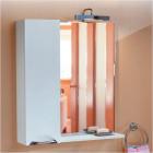 Зеркало со шкафчиком 75 см белое Aqwella Лайн Li.02.07