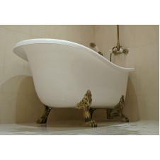Ванна акриловая с ножками со сливом переливом, бронза 1700*800 мм Hidra Ceramica Ellade D62