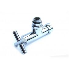 Вентиль запорный угловой г/ш 3/4x1/2 хромированный для п\с Крест пара 2 шт