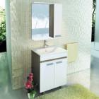 Зеркало со шкафчиком 60 см венге белый Comforty Манчестер 60 зер. вен.