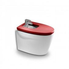 Биде напольное с крышкой микролифт Roca Khroma красный 357657000 + 806652F3T