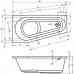 Ванна акриловая асимметричная правая 1600*800 Riho Delta 160 R