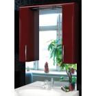Зеркало с подсветкой и шкафчиками 75 см бордо Edelform Соло 2-679-01-S