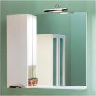 Зеркало со шкафчиком 85 см белое Aqwella Лайн Li.02.08