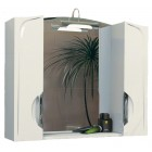 Зеркало с подсветкой и шкафчиком 75 см белое Aqualife Иматра 2-207-000-S