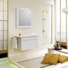 Зеркало со светильником 70 см сосна беленая Aqwella Симфония Sim.02.07SB