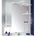 Зеркало с подсветкой и шкафчиком 100 см левое белое Акватон Эмили 86-2 (LEV)