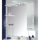 Зеркало с подсветкой и шкафчиком 100 см правое белое Акватон Эмили 86-2 (PRA)