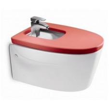 Биде подвесное с сиденьем микролифт Roca Khroma красный 357655000 + 806652F3T