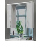 Зеркало с подсветкой и шкафчиками 75 см белое Edelform Соло 2-679-00-S